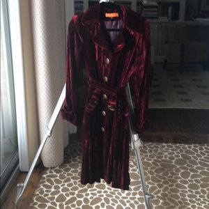 Funky crushed velvet jacket.